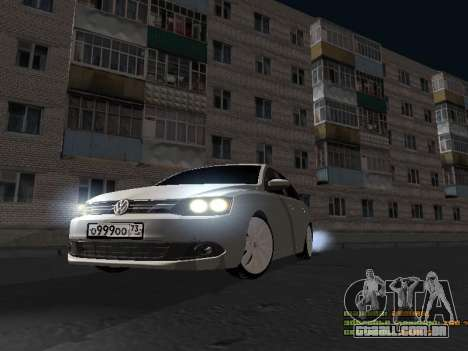 Volkswagen Jetta para GTA San Andreas traseira esquerda vista