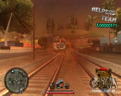 C-HUD Bear para GTA San Andreas segunda tela