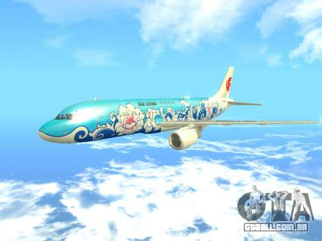 Airbus A320 Air China para GTA San Andreas vista interior
