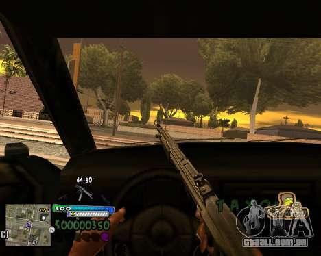 Vista da primeira pessoa para GTA San Andreas segunda tela
