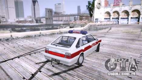Daewoo FSO Polonez Caro Fire para GTA 4 traseira esquerda vista