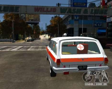 GÁS 2402 Medsluzhba para GTA 4 traseira esquerda vista