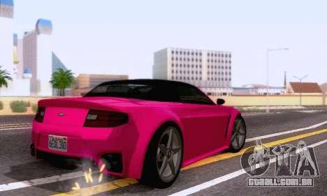 GTA V Rapid GT Cabrio para GTA San Andreas vista traseira