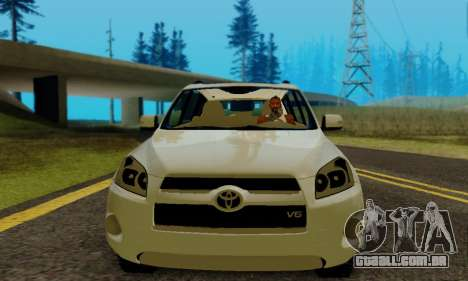 Toyota RAV4 para GTA San Andreas vista traseira