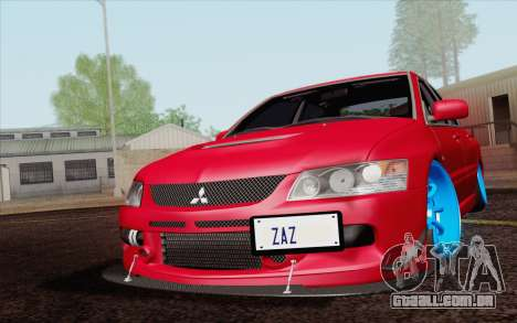 Mitsubishi Lancer MR Edition para GTA San Andreas vista interior