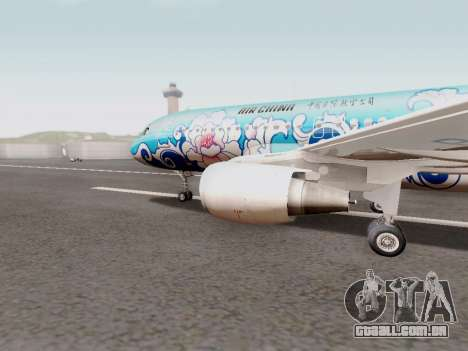 Airbus A320 Air China para GTA San Andreas esquerda vista