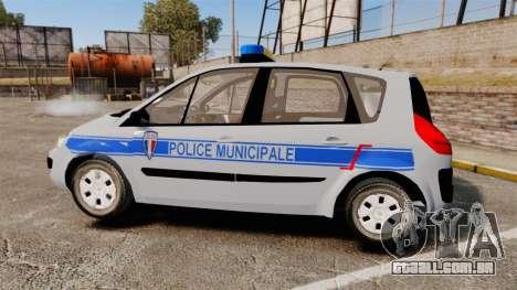 Renault Scenic Police Municipale [ELS] para GTA 4 esquerda vista