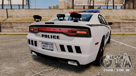Dodge Charger 2011 LCPD [ELS] para GTA 4 traseira esquerda vista