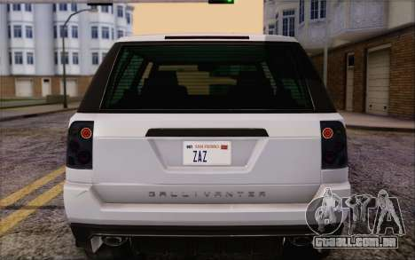 Atento Gallivanter Baller из GTA V para vista lateral GTA San Andreas