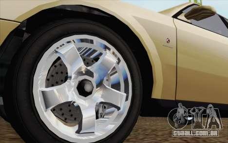 GTA IV Sultan para GTA San Andreas traseira esquerda vista