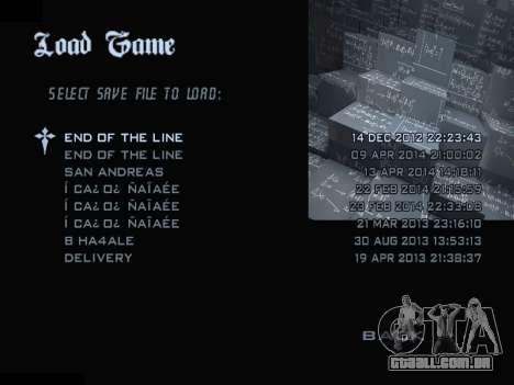 New Menu 2001 para GTA San Andreas sétima tela