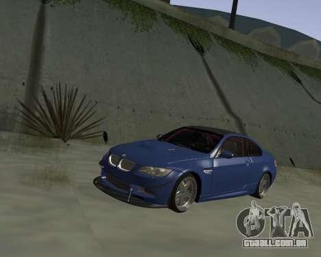 BMW M3 E92 para GTA San Andreas vista interior