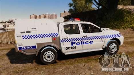 Toyota Hilux Police Western Australia para GTA 4 esquerda vista