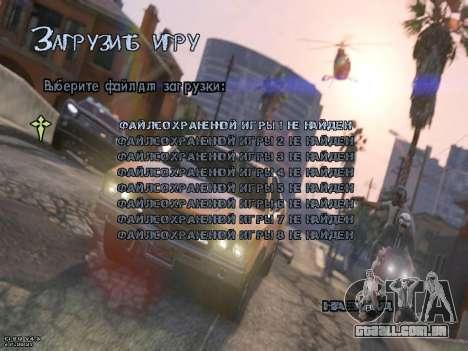 New Menu GTA 5 para GTA San Andreas terceira tela