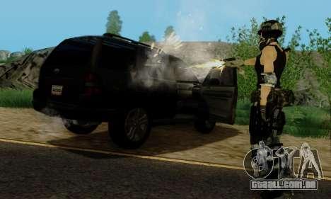 SWAT GIRL para GTA San Andreas sétima tela