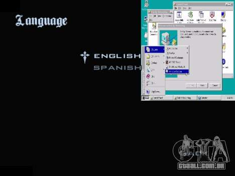 O Menu Do Windows para GTA San Andreas sétima tela