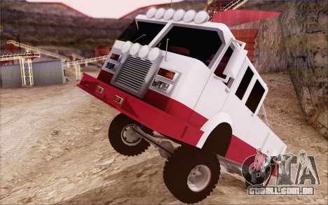 Offroad Firetruck para GTA San Andreas vista direita