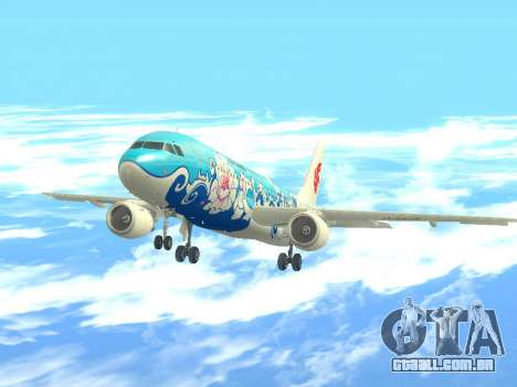 Airbus A320 Air China para GTA San Andreas vista traseira