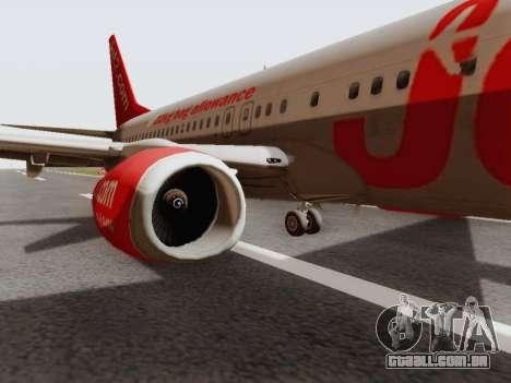 Boeing 737-800 Jet2 para GTA San Andreas traseira esquerda vista