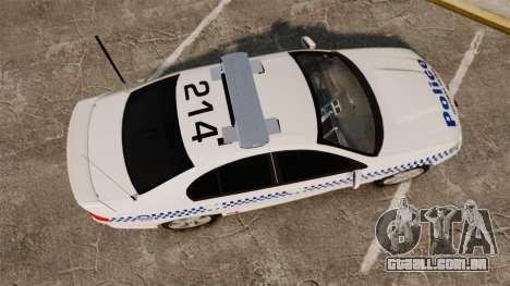 Ford Falcon XR8 Police Western Australia [ELS] para GTA 4 vista direita