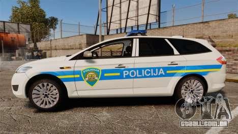 Ford Mondeo Croatian Police [ELS] para GTA 4 esquerda vista