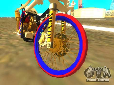 Drag Mio Full GOLD para GTA San Andreas esquerda vista