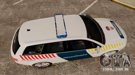 Audi S4 Avant Hungarian Police [ELS] para GTA 4 vista direita