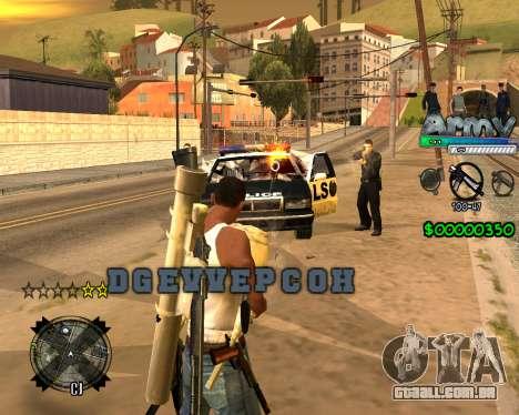 C-HUD For Army para GTA San Andreas segunda tela
