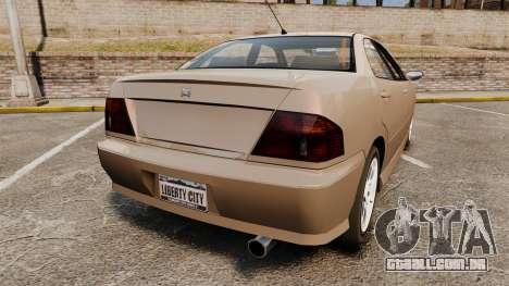 Dinka Chavos new wheels para GTA 4 traseira esquerda vista