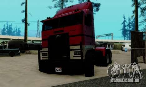 Hauler GTA V para GTA San Andreas traseira esquerda vista