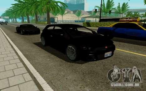 Dinka Blista GTA V para GTA San Andreas traseira esquerda vista