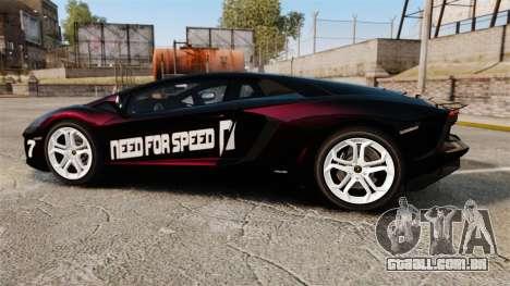 Lamborghini Aventador LP700-4 2012 [EPM] NFS para GTA 4 esquerda vista