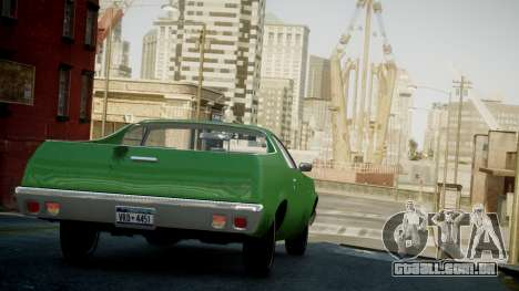 Chevrolet El Camino 1973 Old para GTA 4 vista lateral