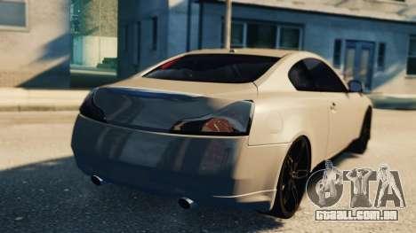 Infiniti G37 2008 Black Shark Pro-Service v1.0 para GTA 4 vista interior