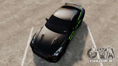 Nissan GT-R Black Edition 2012 Drive para GTA 4 vista direita
