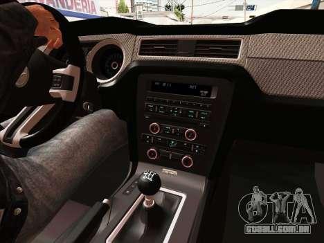 Ford Mustang Boss 302 2013 para GTA San Andreas vista interior
