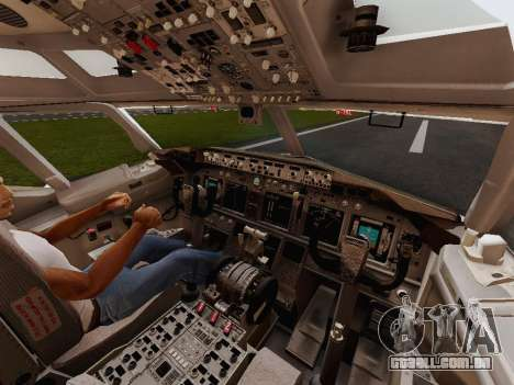 Boeing 737-800 Jet2 para GTA San Andreas vista interior