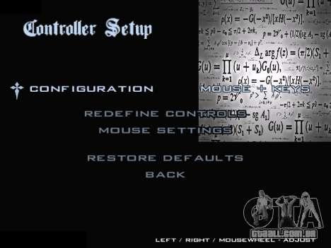 New Menu 2001 para GTA San Andreas sexta tela