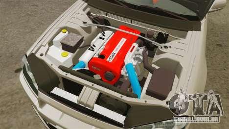 Nissan Skyline GT-R R34 V-Spec II para GTA 4 vista interior