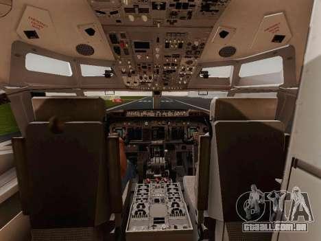 Boeing 737-800 Jet2 para GTA San Andreas vista traseira