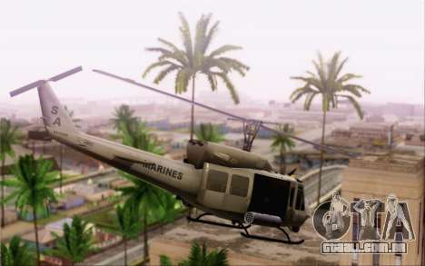 Bell UH-1N Twin Huey para GTA San Andreas esquerda vista