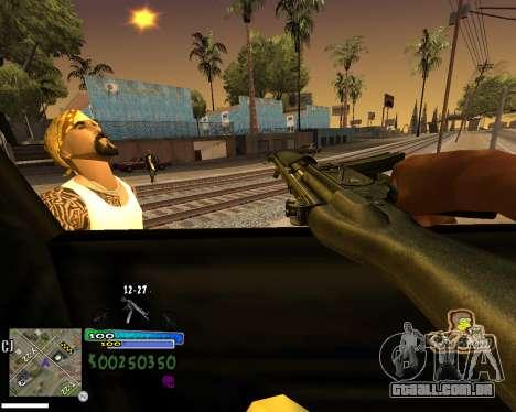 Vista da primeira pessoa para GTA San Andreas quinto tela