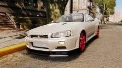 Nissan Skyline GT-R R34 V-Spec II para GTA 4
