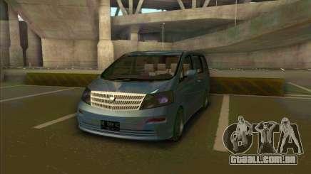 Toyota Alphard para GTA San Andreas