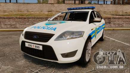 Ford Mondeo Croatian Police [ELS] para GTA 4