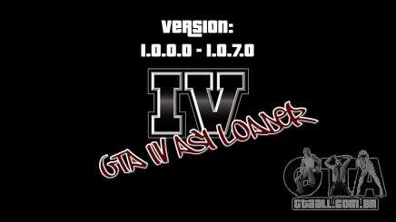 ASI Loader para GTA IV 1.0.7.0-EN 1.0.0.0 para GTA 4