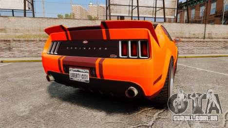 GTA V Vapid Dominator wheels v2 para GTA 4 traseira esquerda vista