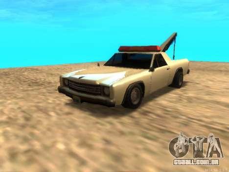 Novo Reboque (Picador) para GTA San Andreas esquerda vista