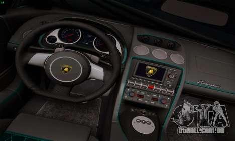 Lamborghini Gallardo LP560-4 para vista lateral GTA San Andreas