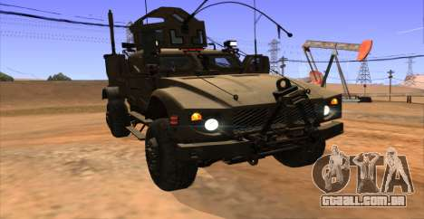 M-ATV из Call of Duty: Ghosts para GTA San Andreas vista interior